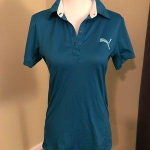 Puma turqouise golf/polo shirt - size small